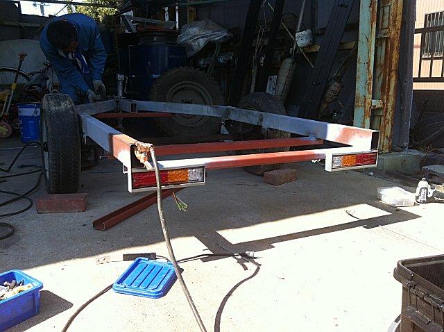 軽トラックで牽引できるトレーラーの製作